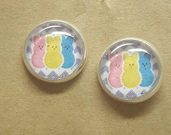 3 Peep Stud Earrings