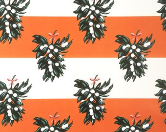 Red Mistletoe Wrapping Paper