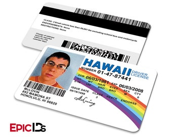 "Superbad Inspired ""McLovin"" Hawaii Drivers License"