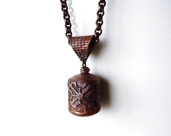Necklace with Pendant in arame Tibetan style