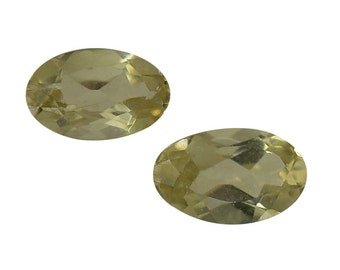 Yellow Apatite Loose Gemstone Oval Cut Set of 2 1A Quality 5x3mm TGW 0.45 cts.
