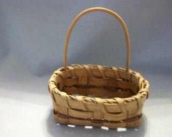 Vintage Handmade Wooden Basket