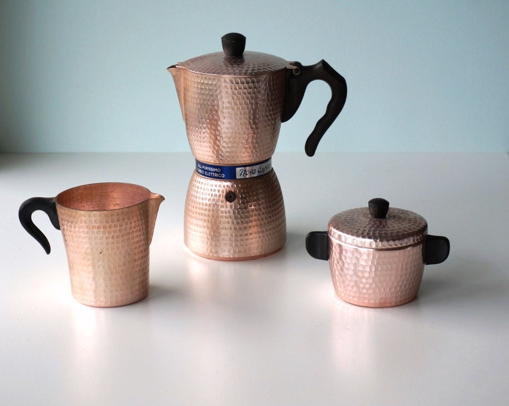Italian stove top espresso machine IRMEL 6 cups with sugar