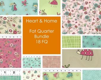 Heart & Home by Natalie Bird for Clothworks Fat Quarter Bundle 18 FQ