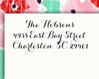 Personalized Address Labels Stickers 2.625 x 1 rectangular return address label Wedding Shower - Hobsons