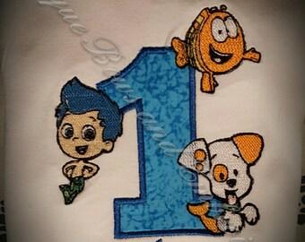 Bubble Guppies Inspired Birthday Shirt ~ Personalized Birthday Set ~ Personalized Birthday Outfit