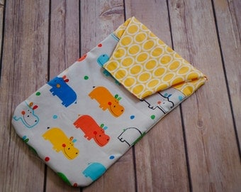 Primary Hippos Diaper Clutch, Jump into Fun, Diaper clutch, Diaper Wallet, Diaper Organizer, Baby Boutique, Baby Gift, Dancing Bear