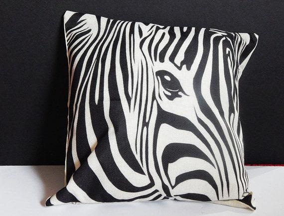 Cute Zebra Pillow : Zebra Pillowcase African Zebra Pillow cover by TheBlackerTheBerry