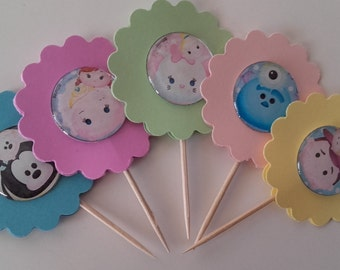 Cupcake Topper, Cake Topper, Party Favor, Cupcake Topper, Birthday Toppers, Double Sided Toppers,Decoration