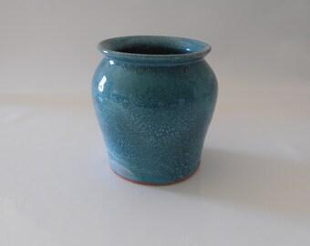 Blue Green Terracotta Original Vase - By Australian Artist Travis Collins