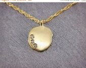 "SALE! Christmas in July! Solid 14K Gold & Diamonds Pendant | Dainty Solid 14K Gold and Diamonds Necklace 16""/18"""