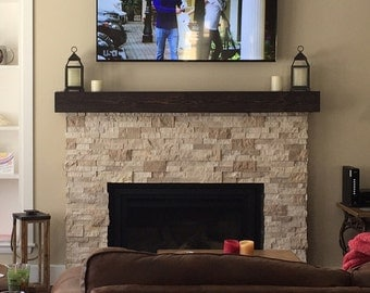 Fireplace Mantel  Custom hollow fireplace mantle . Look of a solid beam. Made out of wood
