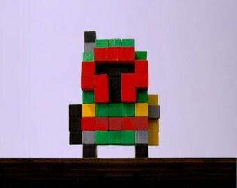 Boba Fett Voxel Figure