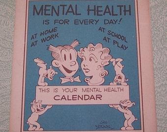 1953 Blondie and Dagwood comic book Mental Health calendar
