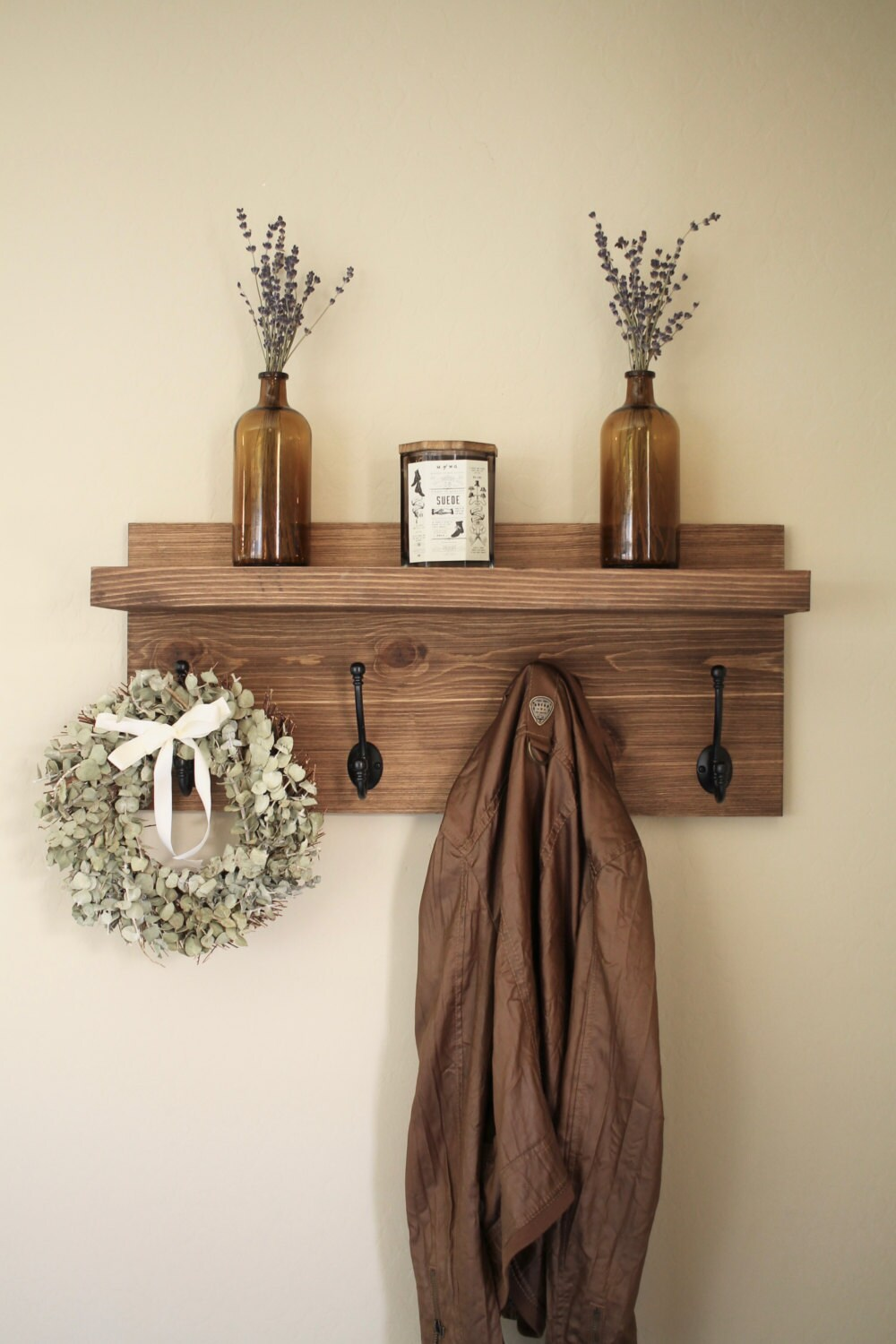 Rustic Wooden Entryway Coat Rack Rustic Wooden Shelf Entryway Rack Coat Rack Rustic Home