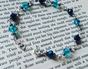 Sterling silver blue crystal bracelet
