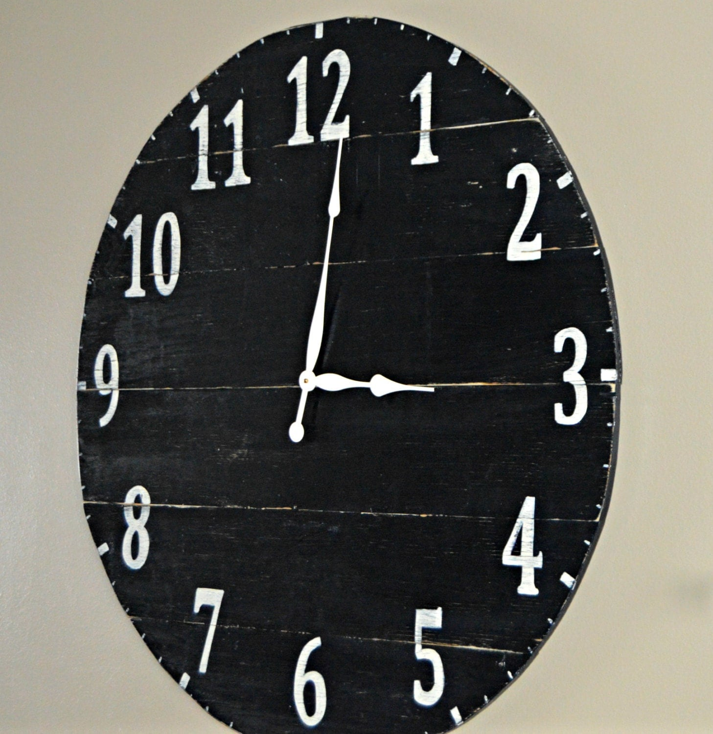 36 Large Oversized Distressed Rustic Wood Wall Clock