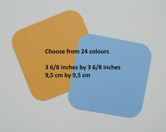100 Note cards, Choose from 24 colors, 3 6/8 inches square, #08