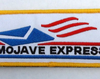 Mojave Express Fallout New Vegas Inspired Cosplay patch Hook and Loop backing