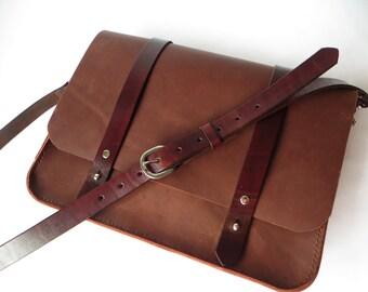 Mens Leather Bag Leather Postal Bag Mens Leather Satchel