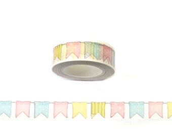 WASHI SAMPLE flags birthday bunting flags in happy colors