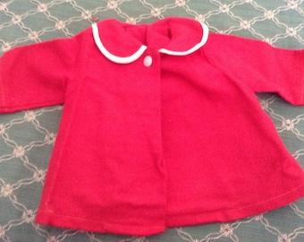 Vintage  Red Corduroy Doll Coat
