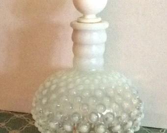 Vintage Hobnail Glass Vanity Jar