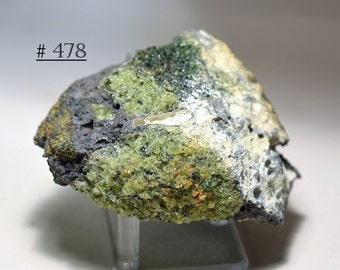 Big Dunite (Olivine/Peridot) in Vesicular Basalt Lava from Arizona - Rock and Mineral Collectible
