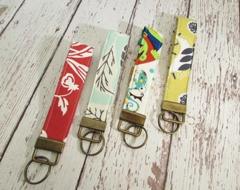 Keyfob - Fabric Keychain, Wristlet Keyfob - Ready To Ship