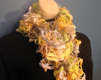 Yellow Ruffled scarf