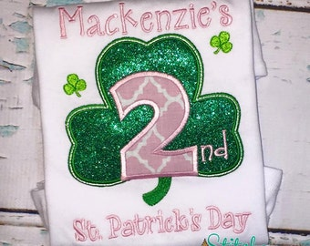 2nd St. Patrick's Day Shirt, Gown or Bodysuit
