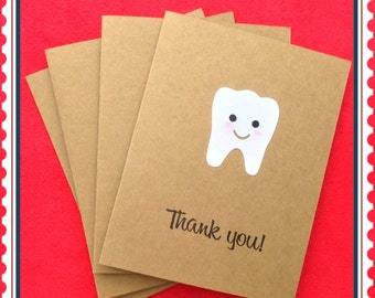 Set of 4 Teeth Thank You Card