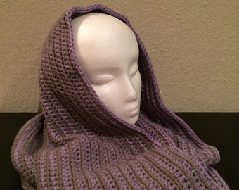 Lilac and Grey cowl
