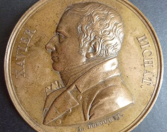 French Historical Medal Of 1802. The death of French Anatomist and Physiologist Xavier Bichat. A Rare Medal