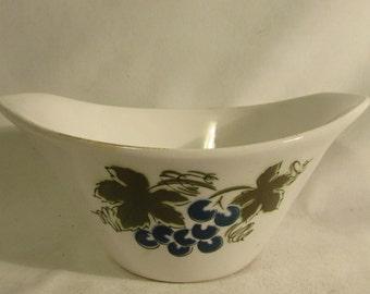 Bowl, Side Dish/Dessert, Ironstone Blue Grapes #4265, Japan, 1970's