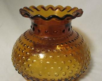 Glass Lamp Shade, Amber Glass, 1960's