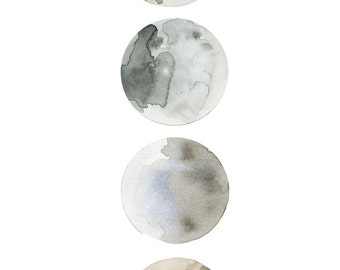 Watercolour Moons | Water and Asphalt