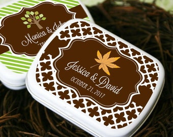 Personalized Fall Mint Tins, (Set of 24)