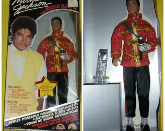 1984 Michael Jackson Doll -  LJN Toys wears American Music Awards Outfit - Canadian Version - NRFB