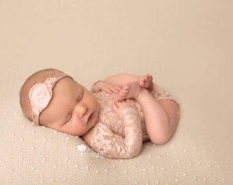 Lace romper, newborn, photo prop bundle