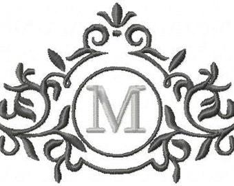 Machine Embroidery Design - Circle Flourish Frame