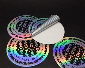 100pcs Custom hologram sticker, stickers hologram design,hologram  stickers