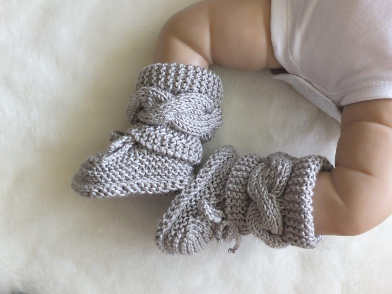 baby boots grau schuhe babyschuhe junge oder m dchen. Black Bedroom Furniture Sets. Home Design Ideas
