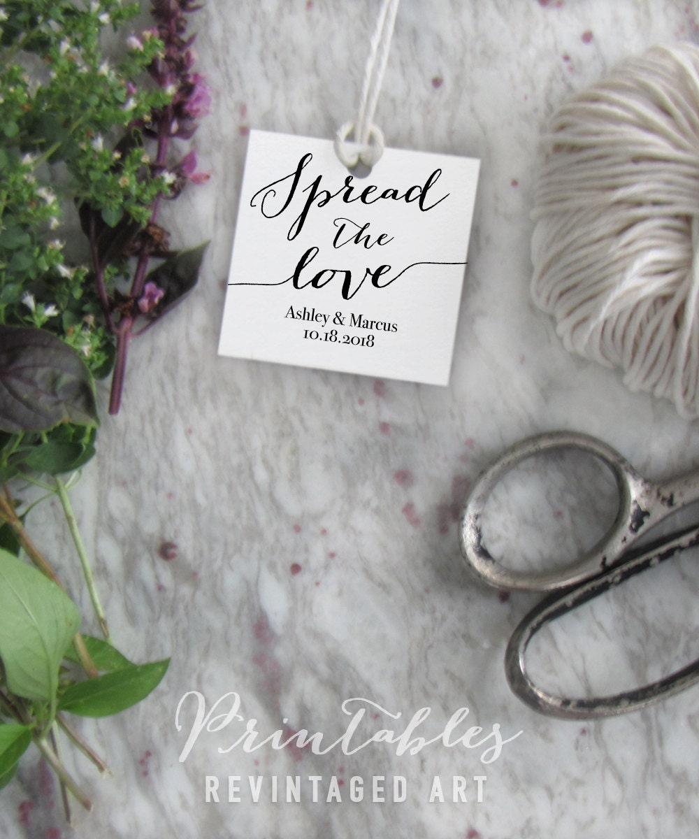 spread the love tags editable wedding favor tags printable template diy digital pdf 2. Black Bedroom Furniture Sets. Home Design Ideas