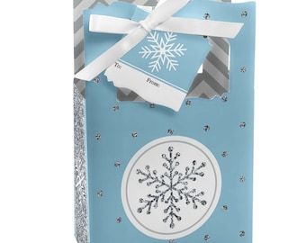 Winter Wonderland - Winter Wedding - Favor Boxes - Holiday Party Supplies - Set of 12