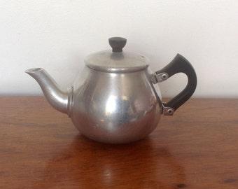 Vintage Teapot. Small Aluminium Teapot. 1960's.