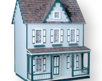 Front Opening Vermont Farmhouse Jr Unfinished Dollhouse Kit