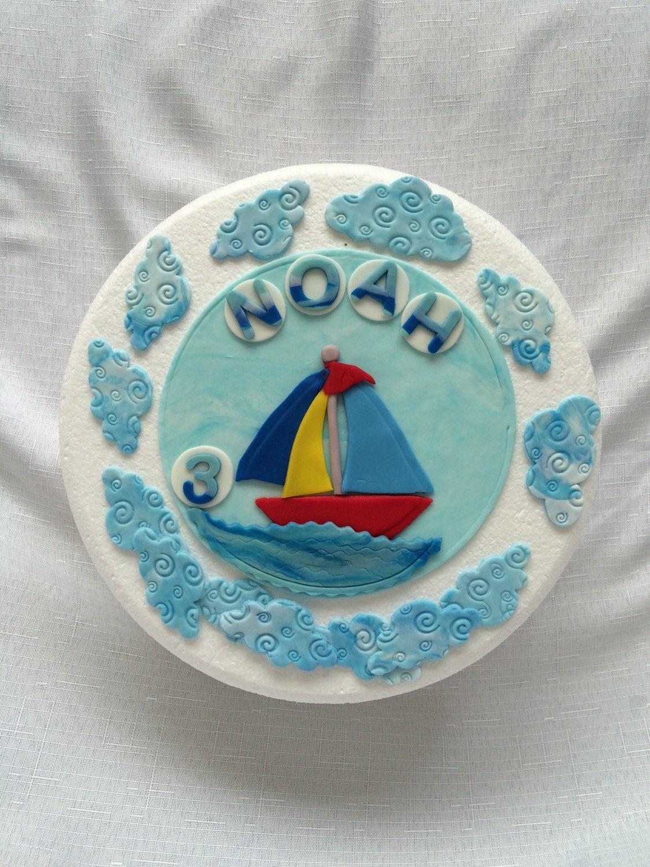 How To Make A Fondant Sailboat Cake Topper