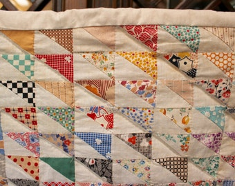 Vintage Handmade Baby Quilt - small