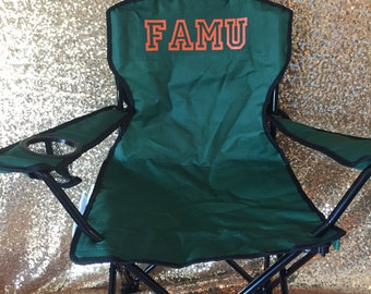 FAMU toddler folding camp chair with carrying bag